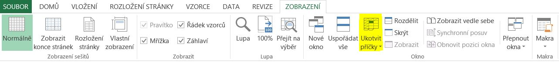 Uvolnit příčky - menu panel